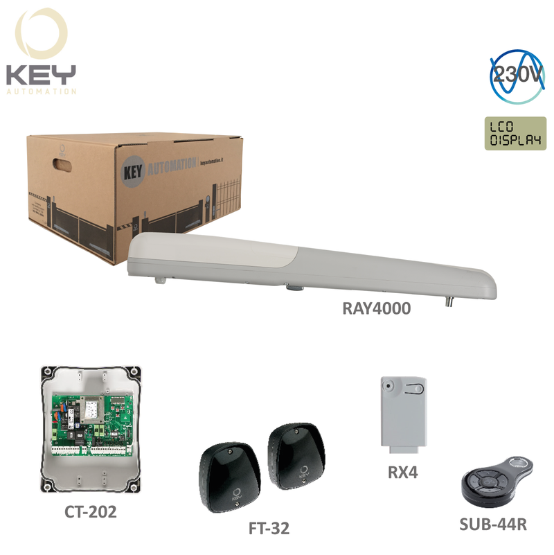 KEY RAY4000.1 -1x RAY4000-230V,280W,2000N,1x SUB-44R,1x CT-202,1x RX4,1pár FT-32