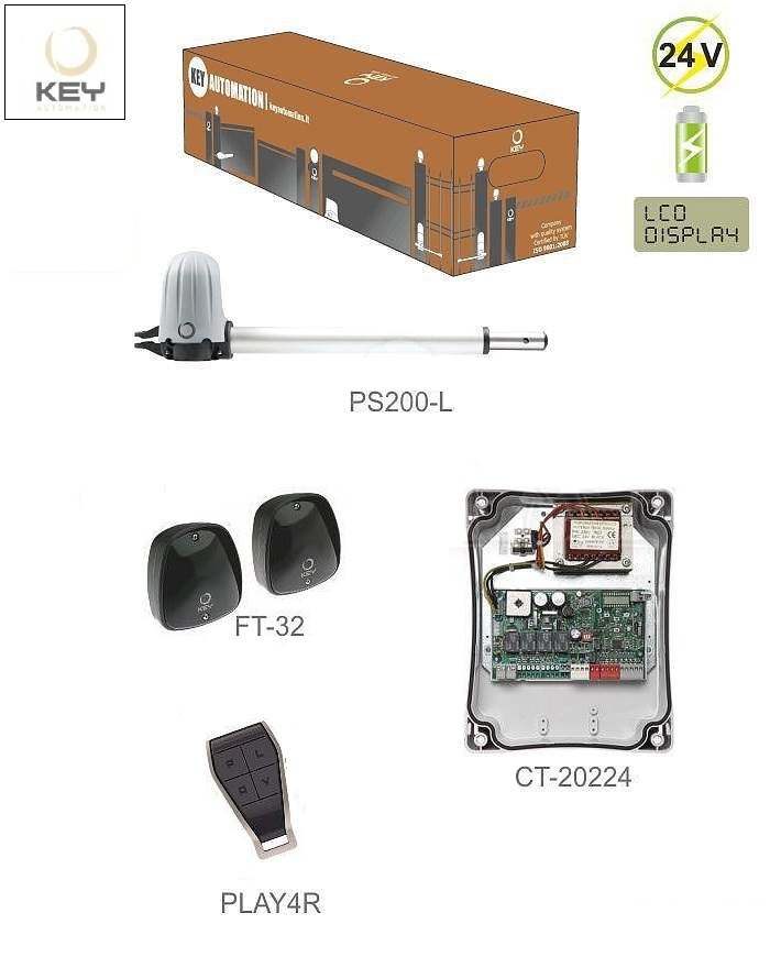KEY STAR 2024 KIT  do 2m/ krídlo, 1x PS200L, 1x CT-20224, 1 pár FT-32, 1x PLAY4R