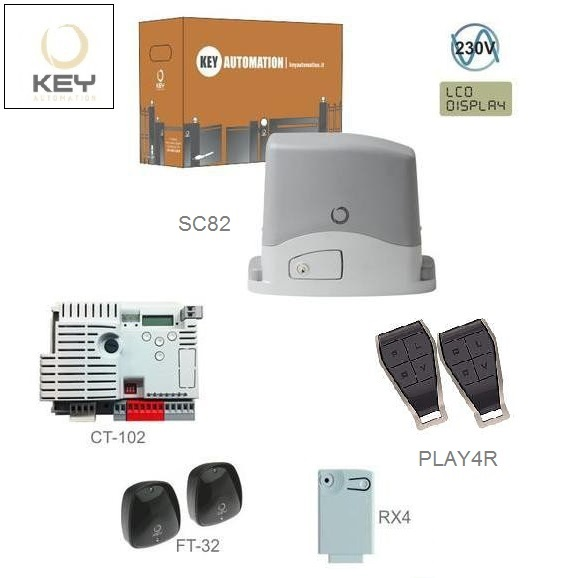 KEY KIT800SS-E do 800kg, 1x SC82, 1x CT-102, 2x PLAY4R, 1x RX4, 1pár FT-32