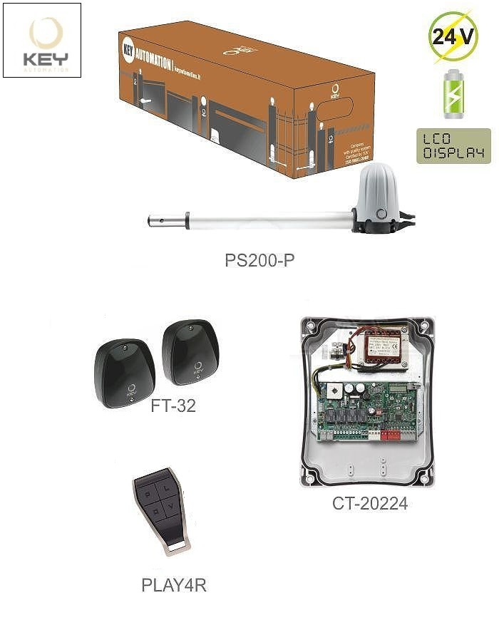 KEY STAR 2024 KIT  do 2m/ krídlo, 1x PS200P, 1x CT-20224, 1 pár FT-32, 1x PLAY4R